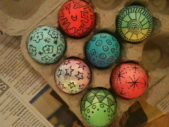 Maia and Q's Easter Eggs
