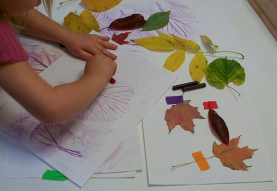 Don't Forget About Leaf Rubbings